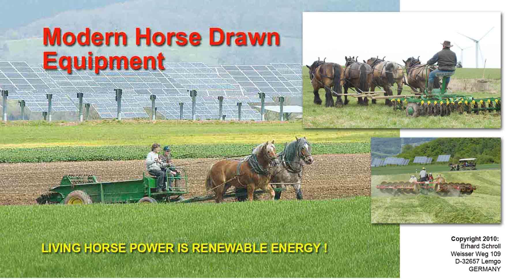 Modern Horse Drawn Equipment